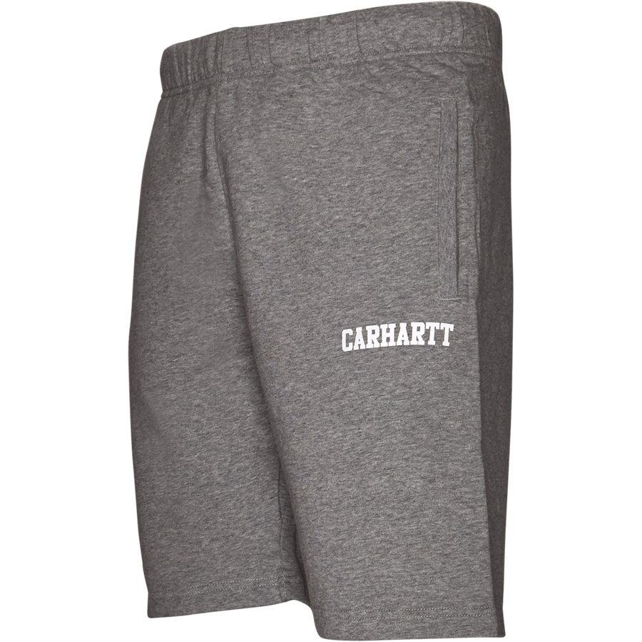 COLLEGE SWEAT SHORT. I024673 - College Sweat Shorts - Shorts - Regular - GREY HTR/WHITE - 4